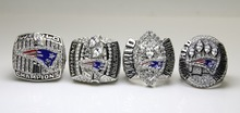One Set 4 PCS 2001 2003 2004 2014 New England Patriots super bowl rings 11s All solid back Heavy ones(China)