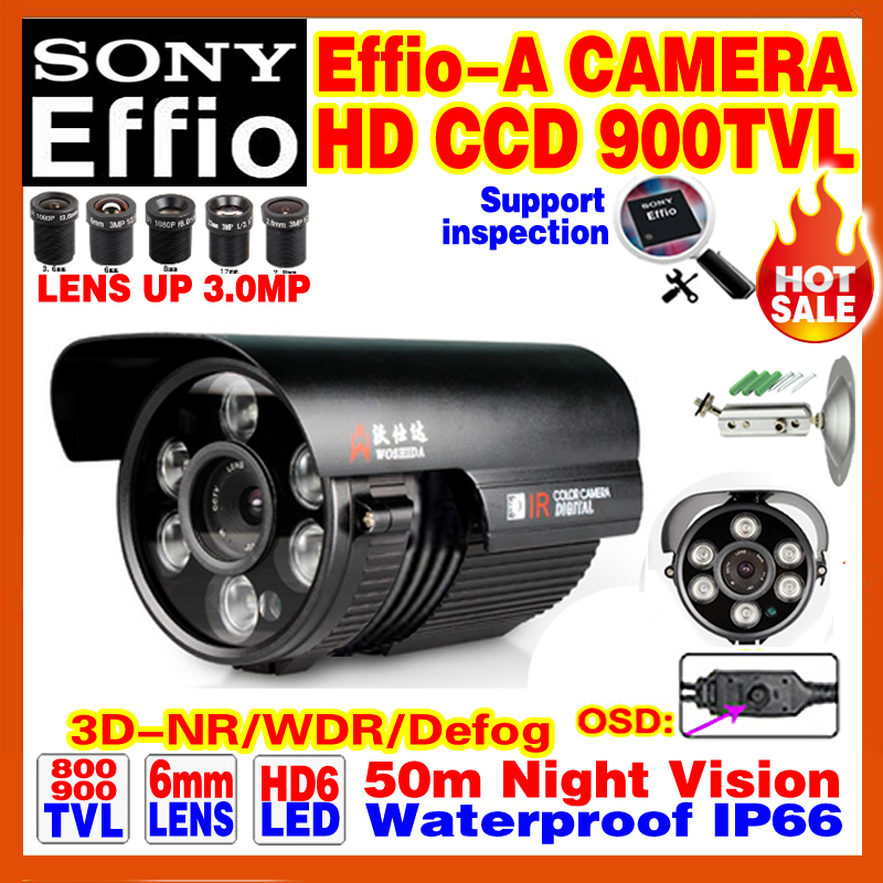 High-End SONY Camera 1/3CCD Effio 4140+238IMX Ccd900TVL Outdoor Waterproof OSD Menu Infrared Array HD Night Vision 50m Bracket<br><br>Aliexpress