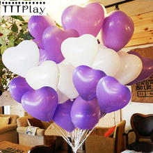 10pcs/lot 10 inch Romantic Love Heart Latex Balloons Inflatable Wedding Party Decoration Air Balls Happy Birthday Party Supplies(China)