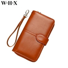 WHX 2017 New Wallet Women PU Leather Girls Long Wallets Pocketbook Female Billfold For Woman's Purse Lady Card Clutch Money Bag(China)
