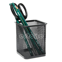 Black metal Rectangular Mesh Style Pen Pencil Holder Office accessories Desk Organizer Container supply(China)