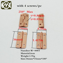 15*36mm 30pc Limited Special custom style Rose gold Hinge Jewelry box hardware Small box hinges small metal hinges KIMXIN W-008T(China)