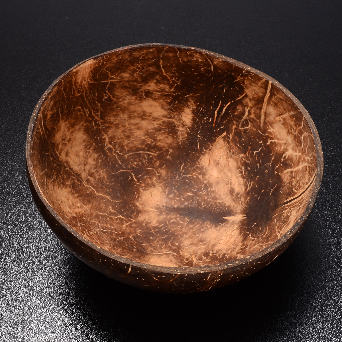 Mayitr 1pc Vintage Natural Coconut Shell Bowl Eco-friendly Ice Cream Bowls Creative Fruit Bowl Handicraft Art Work Decoration