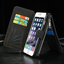 2016 Fashion Authentic Leather Case Cover For iPhone 6s Celular CaseMe Card Slots Wallet Purse Phone Bag For iPhone 6 6S 4.7inch