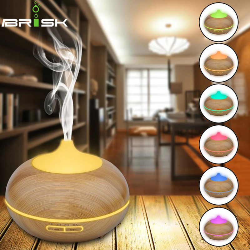 300ML Wood grain diffuser essential oil diffuser humidifier led perfume air make aroma diffuser ultrasonic mist maker humidifier<br><br>Aliexpress