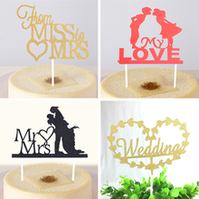 Wedding Theme Cupcake Cake Topper Cake Flags Baking Decoration Supplies For Wedding Commemoration Day Festival Christmas Party