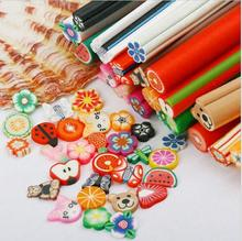 10 Pcs/Set 3D Nail Art tools Fimo Canes Stick Rods Polymer Clay nail Stickers Decora Beauty M17