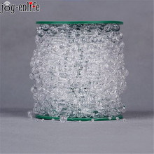 50 Meters 8+3cm Fishing Line Crystal Clear Acrylic Beads Chain Garland Flowers Wedding Party Decoration party Supplies(China)