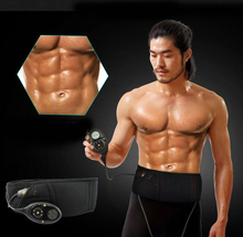Best Smart slimming massage belt EMS Muscle stimulator Unisex Abs Abdominal Muscle Toner Core Abs Workout Belt 10 training mode(China)