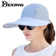 [Dexing] hat summer visors Hat  women sun summer hat for women dual hat anti-uv large brim sun large brim visors beach cap