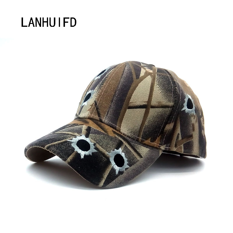 new font baseball cap holes camouflage embroidered military caps velcro hat