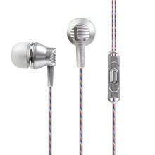 Newest Rose Gold Original Metal In-Ear Earphone Sports Bass Stereo Cute Earphones With Microphone For IPhone Sony Xiaomi Mp3