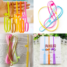 1 PCS New Creative Cute Silicone Finger Pointing Bookmark Book Mark Office Supply Funny Gift(China)