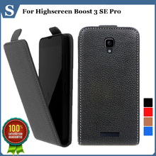 Factory price , Top quality new style flip PU leather case open up and down for Highscreen Boost 3 SE Pro, gift