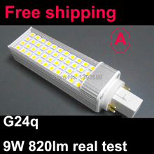 Power factor 0.9 G24q-1 G24q-2 G24q-3 9W led G24q bulb lamp with SMD 44led 5050SMD 820lm real test warranty 3 years(China)