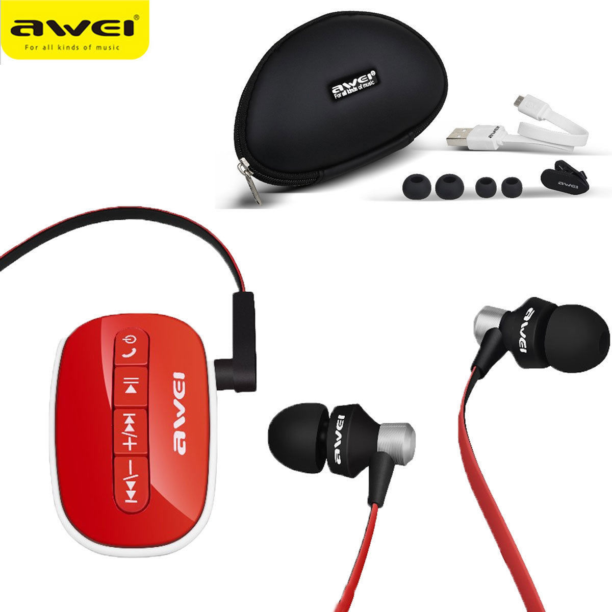 Original A300 Bluetooth Wireless In-Ear Earphone Stereo Clip Earbud Headset For mobilephone<br>