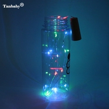 Tanbaby Battery Operated 2M 20 LED 10Pcs/lot Cork Shape String Lights For Bottle DIY,Christmas Halloween Wedding Party