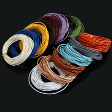 5M 1.5mm Mixed Color Round Real Leather Rope Brown/White/Black Beading Cords for Clothes Shoes Bracelet Jewlery Craft Making