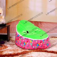 FREE SHIPPING baby bean bag with 2pcs green up cover baby beanbag baby chair baby seat bean bag covers only(China)