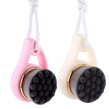 2 Colors Bamboo Charcoal Facial Cleansing Brush Deep Cleaning Face Cleanser Washing Tool(China)
