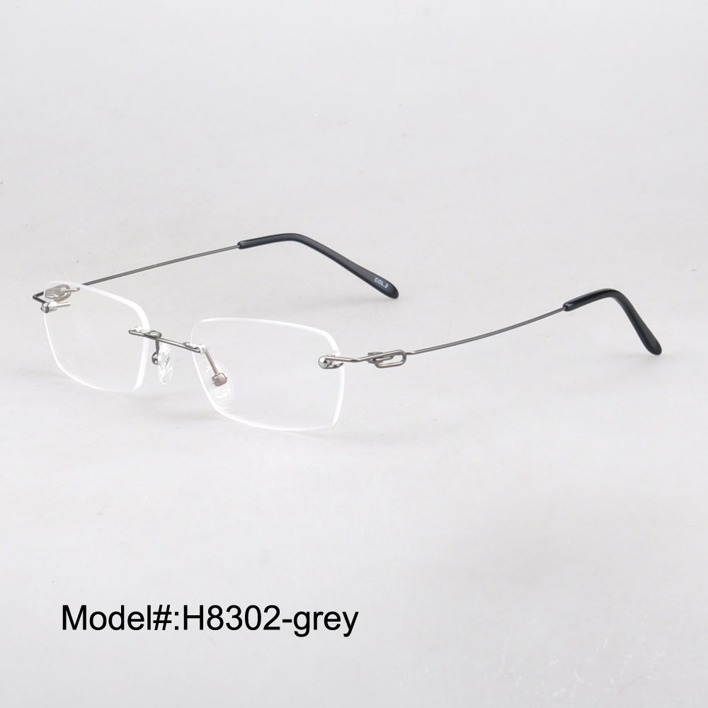 H8302    fashion rimless RX optical frames myopia eyewear eyeglasses   polarized  vintage cilp on sunglasses sunshade  UVB UVA<br><br>Aliexpress