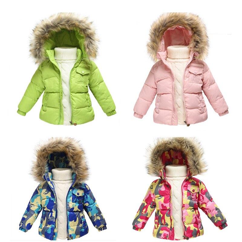 New 2017 Winter Jacket kids Short Jacket Fashion Girls duck down fur Hooded collar Parkas Coats for boys children outerwearОдежда и ак�е��уары<br><br><br>Aliexpress