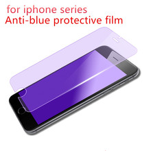 For iPhone 8 8Plus7 7Plus 6 6Plus 6S 6SPlus HD Tempered Glass Film Anti Blue Light Screen Protector For iPhone 5 5C 5S SE 4 4S