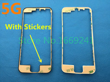 10pcs/lot Middle Frame Housing Cover Bezel for iPhone 5 5G LCD Bracket Middle Frame Bezel Replacement With Stickers