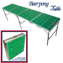 Green Portable Folding Beer Pong Table Official Beer Pong Outdoor Aluminun Folding Beer Pong Table