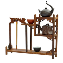 Ming and Qing furniture wenge wood edge Long curio shelf Shelf antique jewelry swing frame factory direct(China)