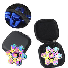 Fidget Hand Spinner Triangle Finger Toy Focus ADHD Autism Bag Box Carry Case Packet For Gift Superior New Fashion R40