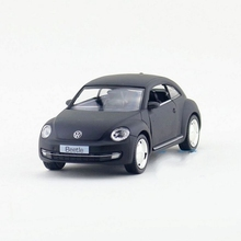 Freeshipping Children UNI Volkswagen New Beetle 2012 Matte Black Model Car 1/32 5inch Diecast Metal Cars Toy Pull Back Kids Gift