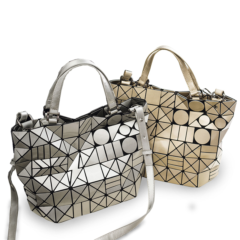 2017 Fashion Bao Bao Bag High Quality Women Tote Fold summer issey Baobao Hand Bag Laser Geometric Designer Handbags <br>