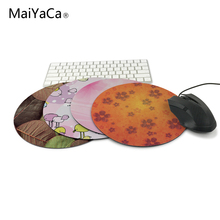 leafy pattern,orange and pink flowers,zune birds 20x20cm hot round mouse pad wallpaper,Customized non-slip computer game family