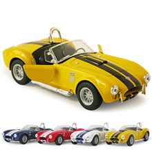 New KiNSMART Classic 1/32 Scale Vintage Ford 1965 Shelby Cobra 427 S/C Cool Diecast Metal Pull Back Car Model Toy For Kids Gift