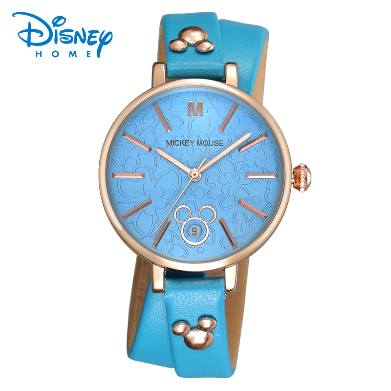 Disney Brand Children Quartz Watch 30m Waterproof Mickey Girl Cartoon Anime Mouse Kids Watches Leather Watches<br><br>Aliexpress