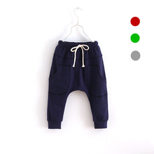 V-TREE new autumn baby boys harem pants girls pants leisure children pants cotton kids trousers boy pants kids clothes