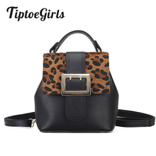 Tiptoegirls Leopard Fashion Bag Tote Brand Name Bag Ladies Handbag Lady Evening Bags Solid Female Messenger Bags Fashion(China)