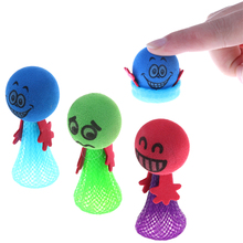Hot Sell 1pcs Kids Gifts Practical Jokes Color Randomly Lovely Kids Funny Bounce Toy Shock Joke Shocking Gadget Prank Toy Trick(China)