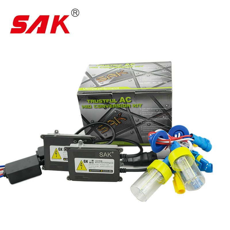 SAK 1set ac 12v 55w xenon headlight single xenon quick star hid kit xenon highlight bulb 55w h1 h4 5500k h7 h8 h11 9005<br><br>Aliexpress