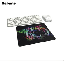 Babaite New Mousepad Tapis De Souris Animal Neon Tiger Outline Design Anti-slip Computer Mouse Pad Durable Rubber Custom Mat