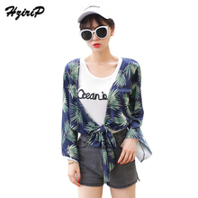 Hzirip 2017 Fasion Summer Female Outwear Sun-Protective Printing Green Flower Beach Women's Windbreaker Ladies Thin Jacket(China)
