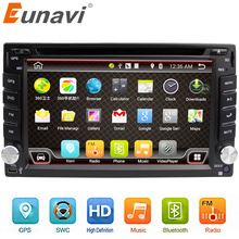 Eunavi Universal 2 din Android 6.0 Car DVD player GPS+Wifi+Bluetooth+Radio+DDR3+ Touch Screen+3G+car pc+audio 16G Quad Core
