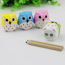 2 PCS Kawaii Owl Pencil Sharpener Cutter Knife Learning Stationery