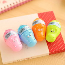 Creative Colorful Hippo Shape Animal Mini Pencil Sharpener Knife Cutter Students Children Kids Gift Random Color