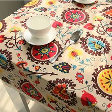 2017 Cotton Linen Tablecloths Bohemia National Wind Explosion Models Table Cloth Sun Flower Tablecloths Home Textile(China)
