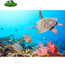 5D DIY Diamond Painting Under Sea World Turtle Embroidery Cross Stitch Crystal Picture Rhinestones Mosaic Handmade Sewing Art(China)