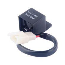 Universal Motorcycles LED Turn Light Flasher Relay Turn Signal Rate Control Blinkrelais 12V Scooter Motorbikes(China)