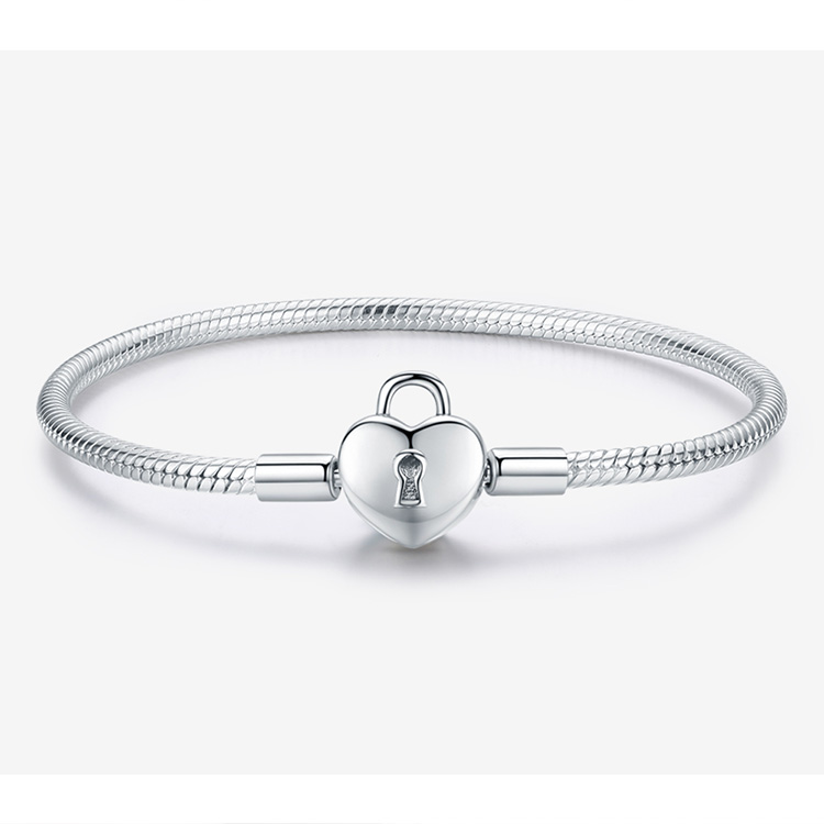 bracelet charm cadenas 925 tendance glamour