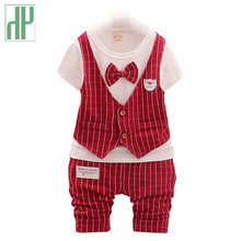 Gentleman boutique kids clothes shirt+pants and bow party baby boys clothes for girls fall children clothing outfits 2pcs/set(China)